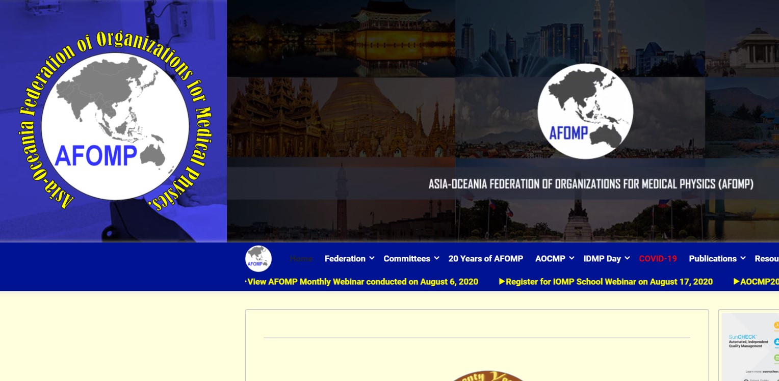 AFOMP(Asia-Oceania Federation of Organizations for Medical Physics)